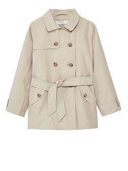 Girls Classic cotton trench coat