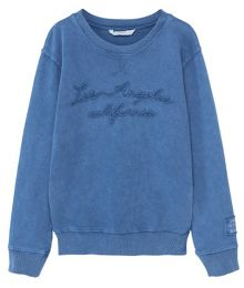 Mango Boys Embroidered cotton sweatshirt