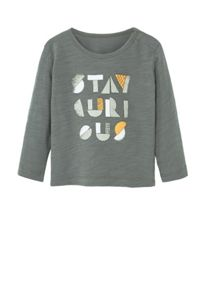 Mango Baby Message cotton t-shirt