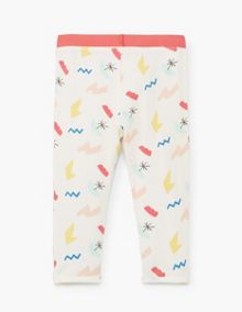 Mango Baby Printed cotton leggings