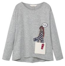 Mango Girls Contrast pocket t-shirt