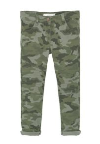 Mango Girls Camo-print trousers