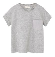 Mango Baby V-neck cotton t-shirt