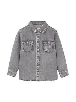 Baby Chest-pocket denim shirt