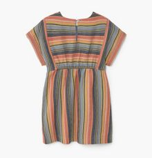 Mango Girls Stripe textured dress