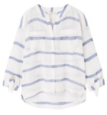 Mango Girls Striped Cotton Shirt