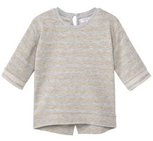 Mango Baby Metallic striped t-shirt
