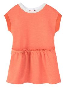 Mango Baby Girls Contrast detail dress