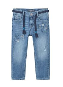 Mango Girls Patch slim-fit jeans