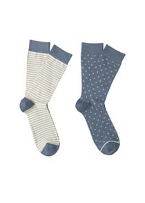 Mango 2 pack polka-dot striped socks