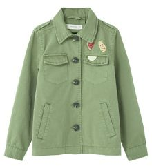 Mango Girls Decorative patches cotton jacket