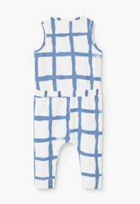Mango Baby Printed cotton dungarees