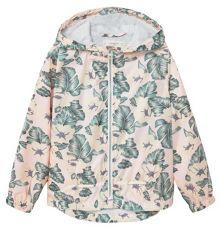 Mango Girls Hooded printed jacket