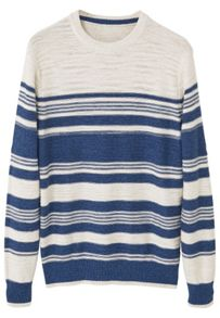 Mango Striped cotton sweater