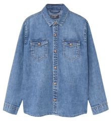 Mango Boys Medium wash denim shirt