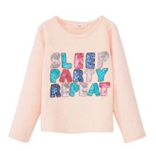 Mango Girls Sequin message sweatshirt