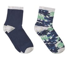 Mango Boys Camo print ankle socks pack