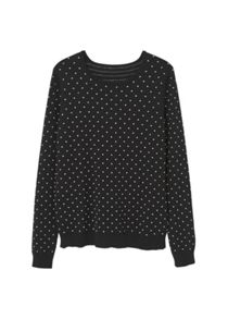 Mango Embossed Polka-Dot Sweater