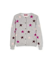 Girls star wool-blend cardigan