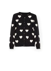 Girls heart wool-blend cardigan