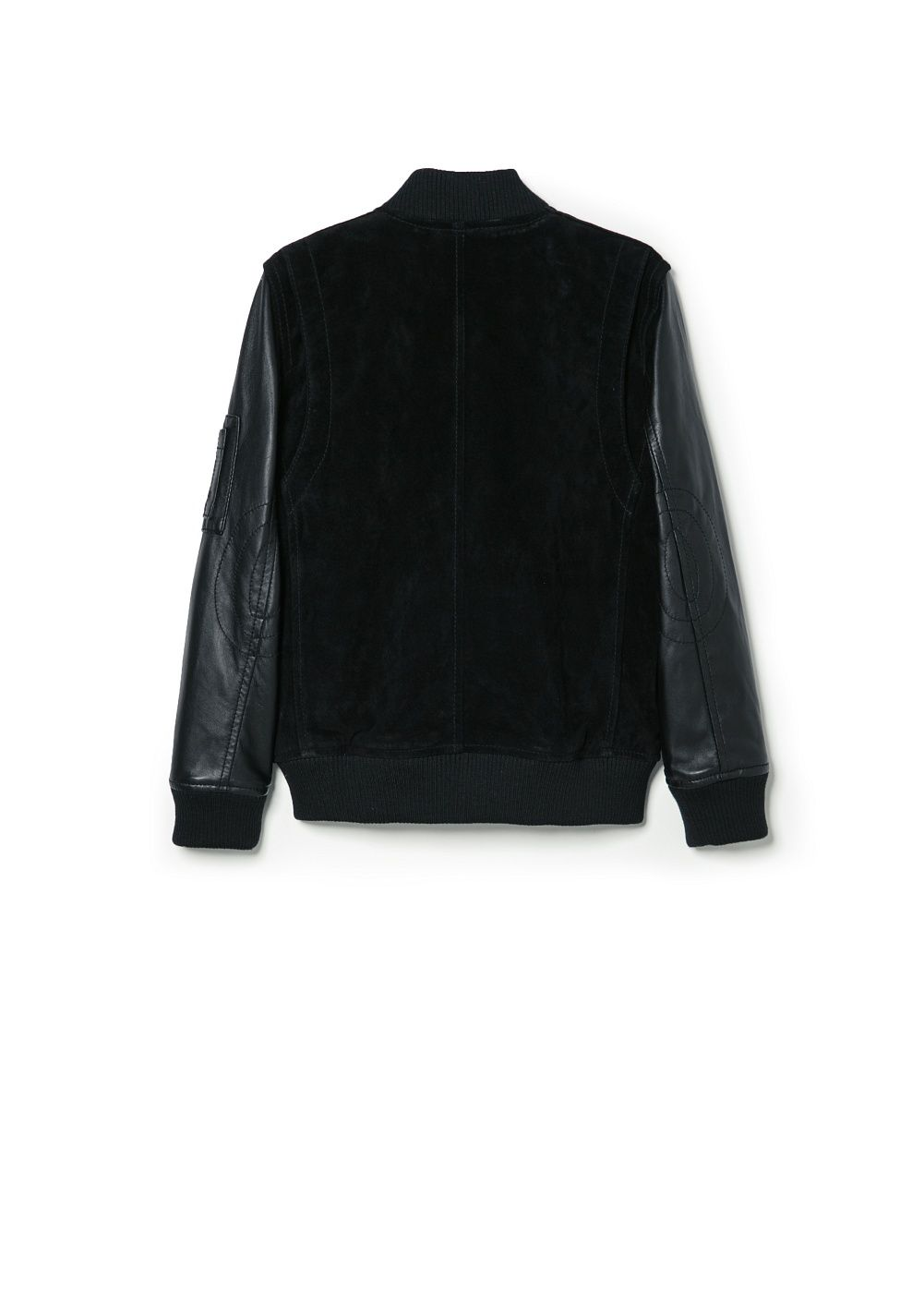 Boys suede bomber jacket