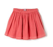 Girls applique flared skirt