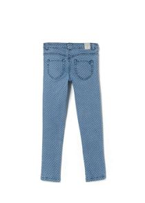 Girls skinny polka-dot jeans