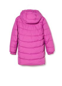 Girls quilted long coat