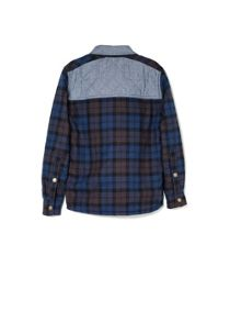 Boys check quilted shirt