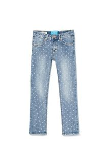 Girls sequin polka-dot jeans