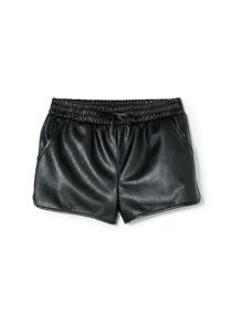 Girls faux leather shorts