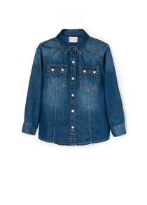 Girls dark denim shirt
