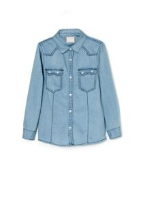 Girls medium denim shirt
