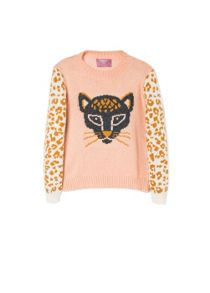 Girls jacquard wool-blend sweater