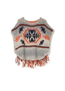 Girls fringed sweater