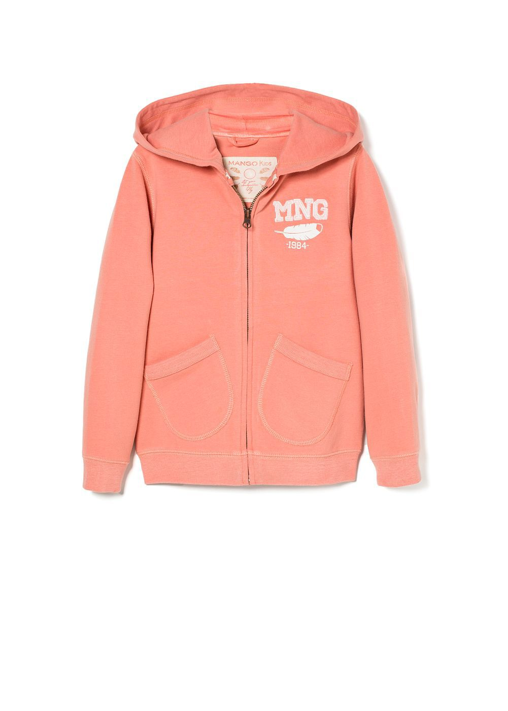 Girls feather mng hoodie