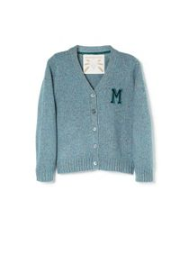 Girls Wool silk-blend cardigan