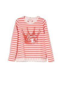 Girls lace hem t-shirt