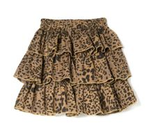 Girls leopard ruffled skirt