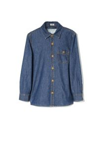 Boys pocket denim shirt