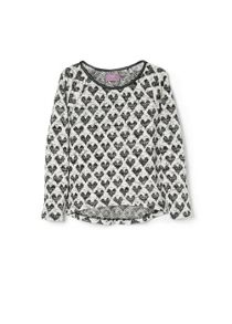 Girls heart sweatshirt