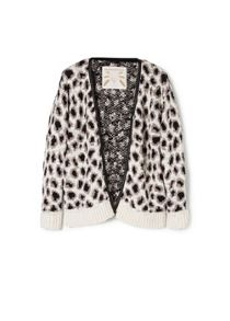 Girls leopard pattern cardigan