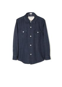 Boys micro check shirt