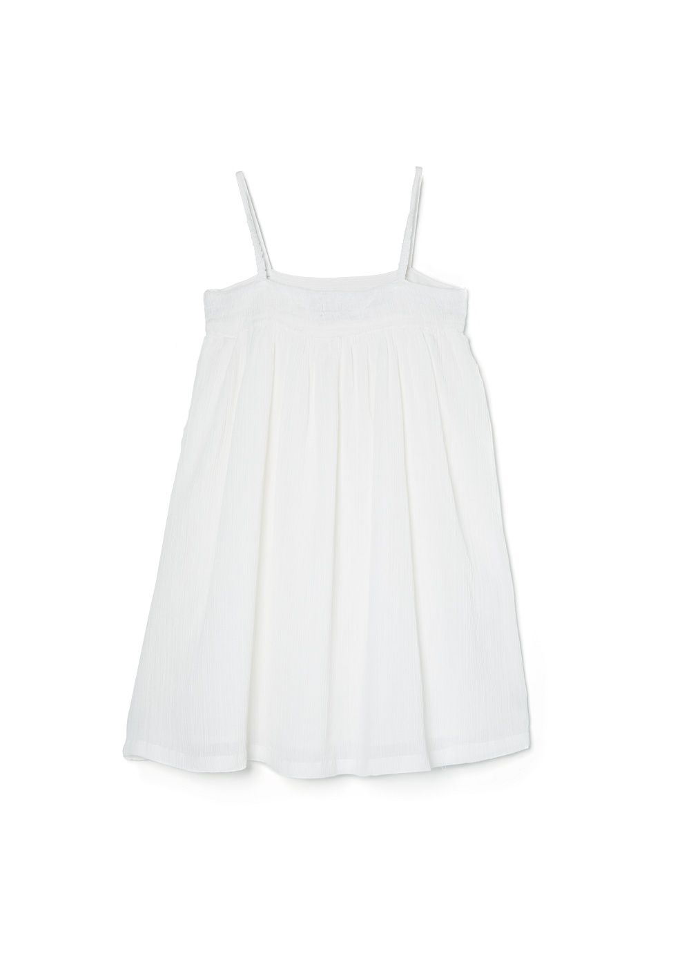 Girls embroidery ruched dress
