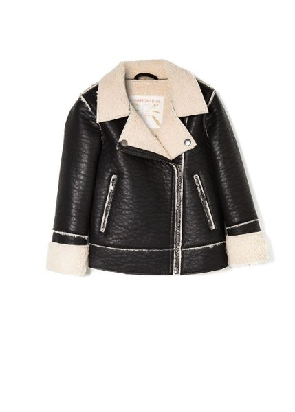 Mango Girls faux shearling jacket