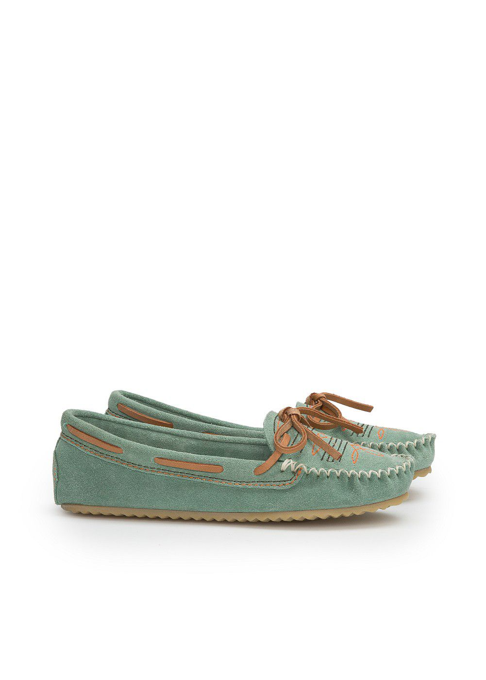 Girls embroidered suede moccasins