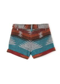 Girls ethnic wool-blend shorts