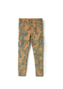 Boys camo-print cargo trousers