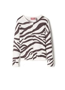 Girls animal print cardigan