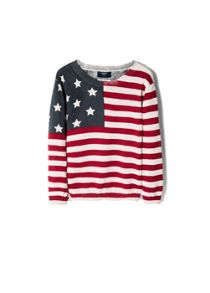 Boys flag print sweater
